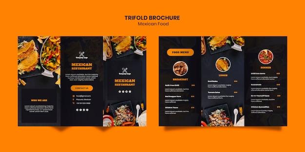 Modèle De Brochure à Trois Volets De Cuisine Mexicaine Psd gratuit