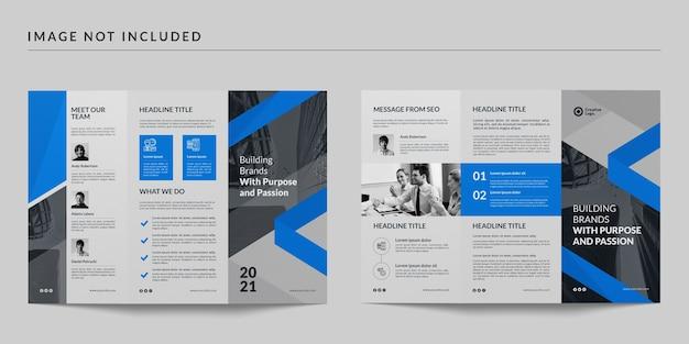 Modèle De Brochure à Trois Volets PSD Premium