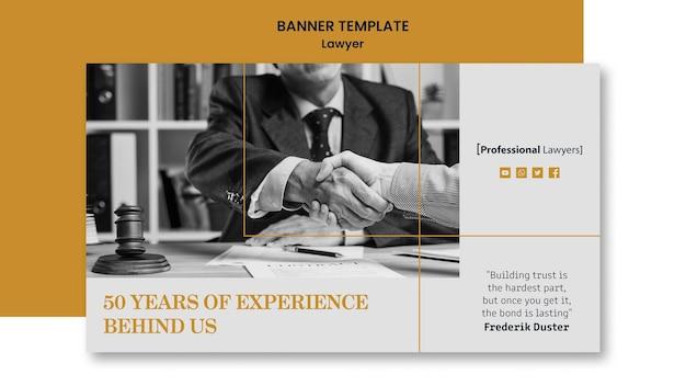Modèle De Cabinet D'avocats De Bannière Psd gratuit