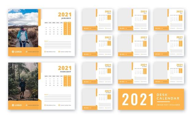 Modèle De Calendrier De Bureau 2021 Prêt à Imprimer PSD Premium