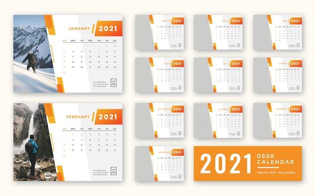 Modèle De Calendrier De Bureau 2021 | PSD Premium