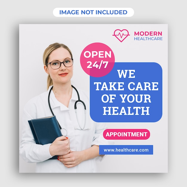 Modèle Carré De Bannière Médicale Médicale Médicale PSD Premium