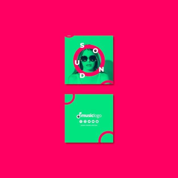 Modèle de carte pour le festival du son Psd gratuit
