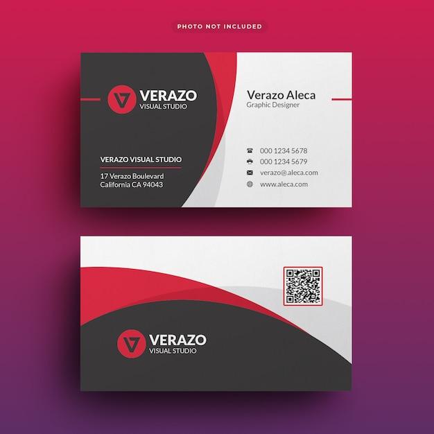 Modèle de carte de visite entreprise moderne PSD Premium