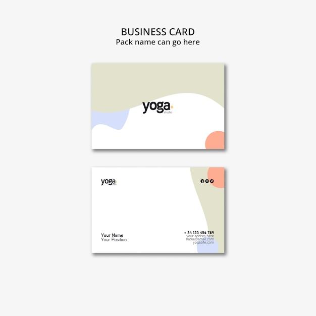 Modèle De Carte De Visite Minimaliste De Yoga Psd gratuit