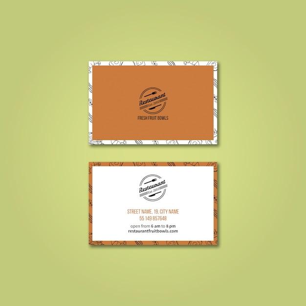 Modèle de carte de visite pour restaurant Psd gratuit