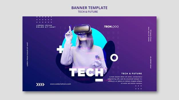Modèle De Concept De Modèle De Bannière Tech & Future Psd gratuit