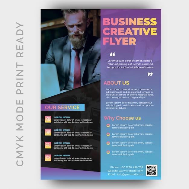 Modèle de conception de flyer business creative agency moderne PSD Premium