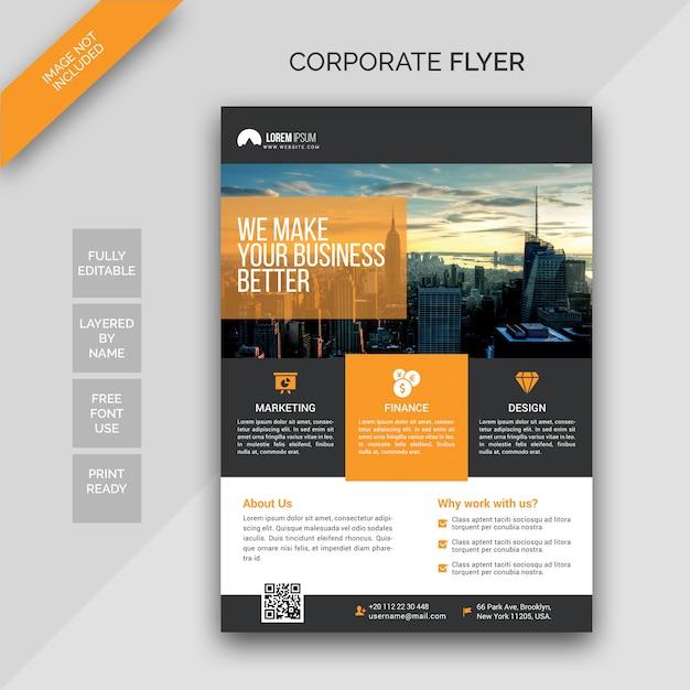 Modèle de conception de flyer créatif PSD Premium