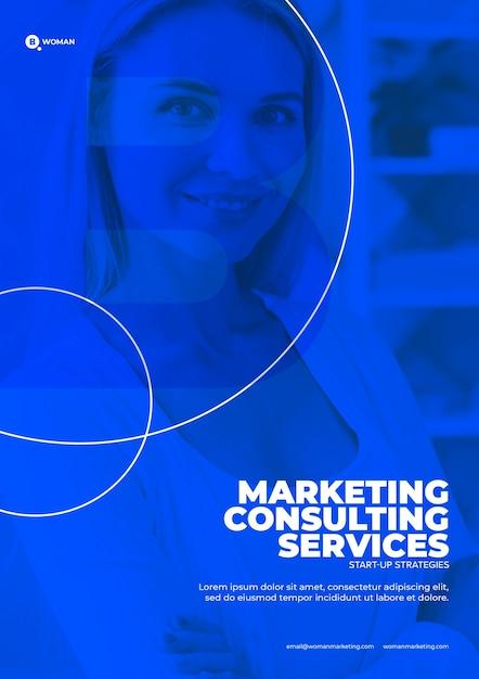 Modèle De Contenu Marketing D'entreprise Psd gratuit
