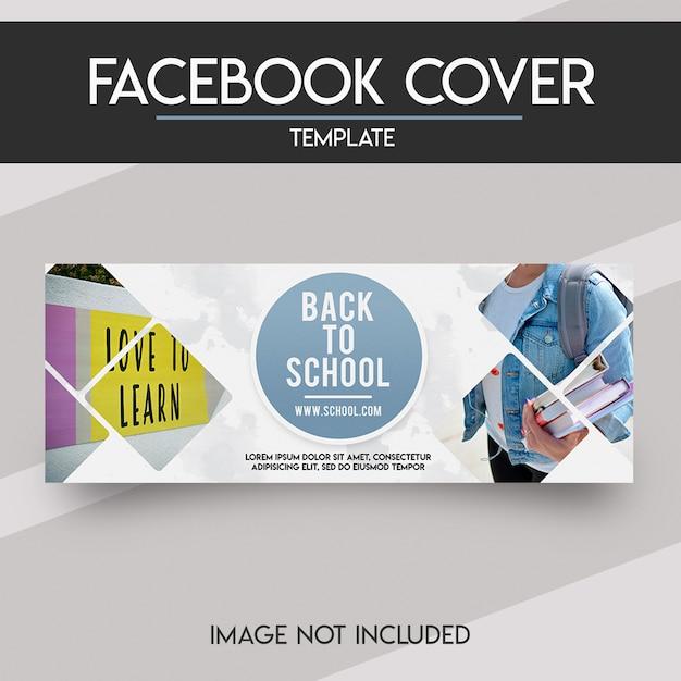 Modèle de couverture facebook PSD Premium