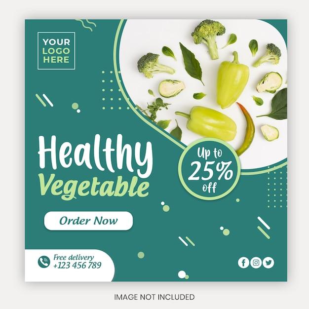 Modèle De Couverture De Médias Sociaux De Fruits Et Légumes Biologiques Frais PSD Premium