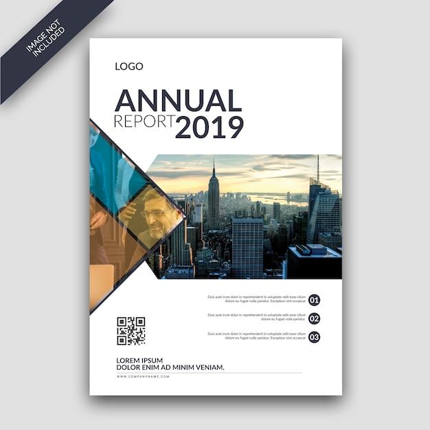 Modèle de couverture de rapport annuel PSD Premium