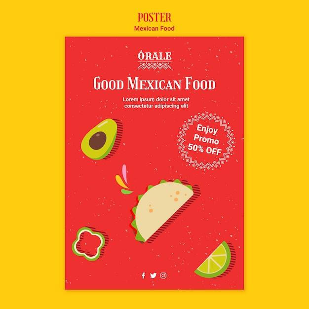 Modèle De Cuisine Mexicaine Psd gratuit
