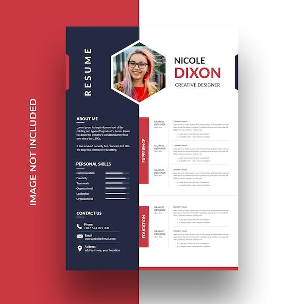 Modèle De Cv Professionnel Propre PSD Premium