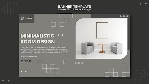 Modèle De Design D'intérieur Minimaliste De Bannière Psd gratuit
