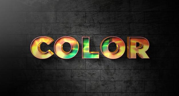 Modèle D'effet De Style De Texte Couleur PSD Premium