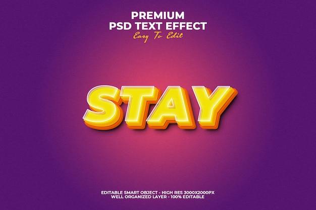 Modèle D'effet De Style De Texte Stay PSD Premium