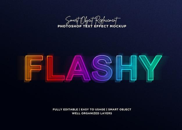 Modèle D'effet De Texte 3d Style Flashy PSD Premium