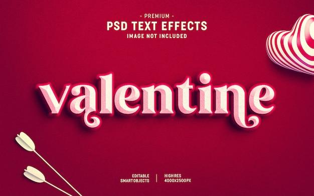 Modèle D'effet De Texte Pour La Saint-valentin PSD Premium
