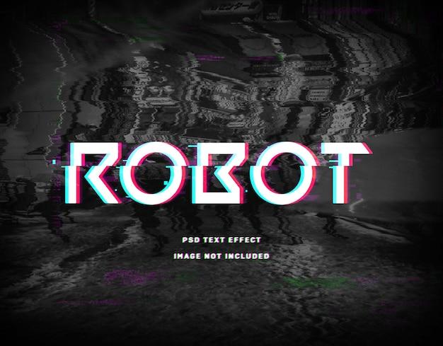 Modèle D'effet De Texte De Robot PSD Premium