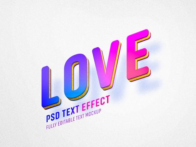 Modèle D'effet De Texte Vivid Love Valentine PSD Premium