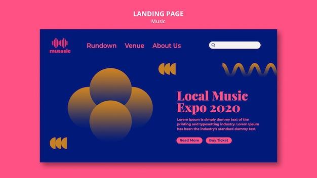 Modele D Expo De Musique De Page De Destination Psd Gratuite