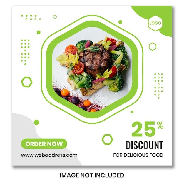 Modèle de flyer ou bannière carré pour restaurants PSD Premium