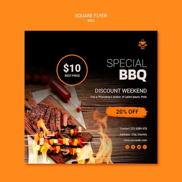 Modèle De Flyer Avec Barbecue Psd gratuit