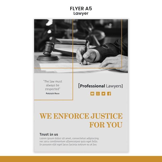 Modèle De Flyer De Cabinet D'avocats Psd gratuit