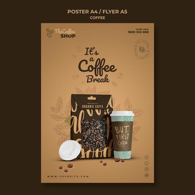 Modèle De Flyer De Café Psd gratuit