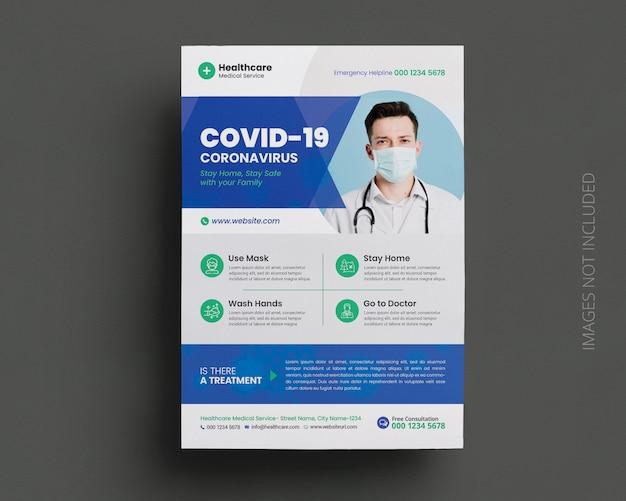 Modèle De Flyer De Campagne Médicale Coronavirus Covid-19 PSD Premium