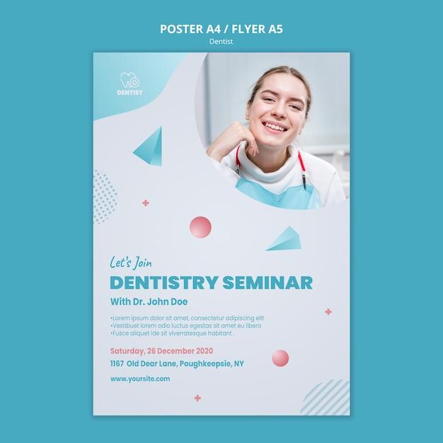 Modèle De Flyer De Clinique De Dentiste Psd gratuit