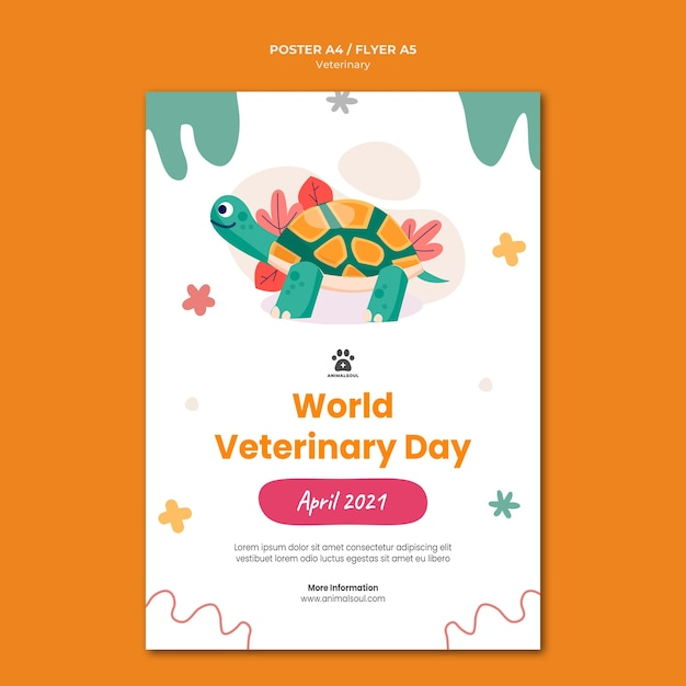Modèle De Flyer De Clinique Vétérinaire Psd gratuit