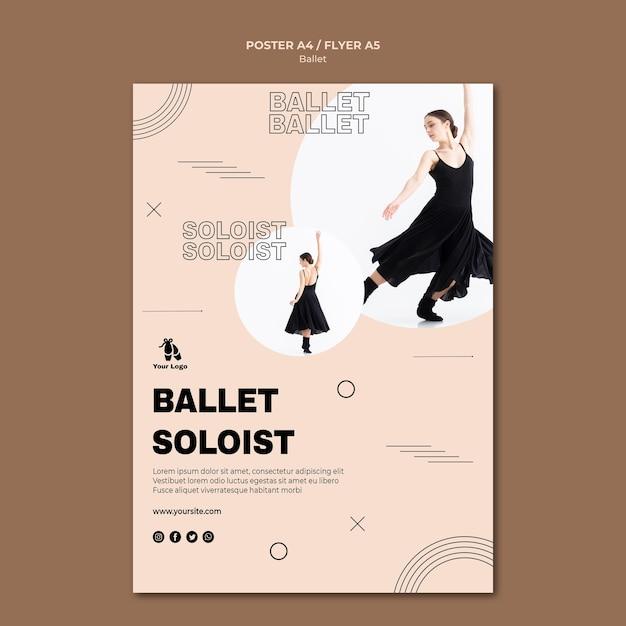 Modèle De Flyer De Concept De Ballet Psd gratuit