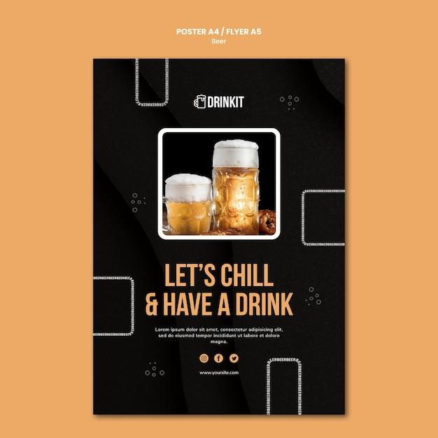 Modèle De Flyer De Concept De Bière Psd gratuit