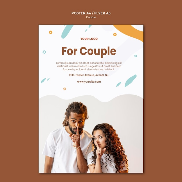 Modèle De Flyer De Concept De Couple Psd gratuit
