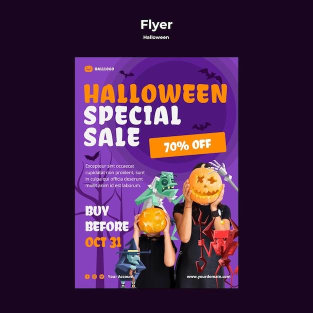 Modèle De Flyer De Concept Halloween Psd gratuit