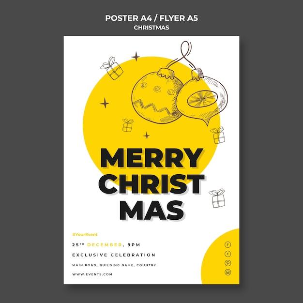Modèle De Flyer De Concept De Noël Psd gratuit