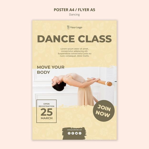 Modèle De Flyer De Cours De Danse Psd gratuit