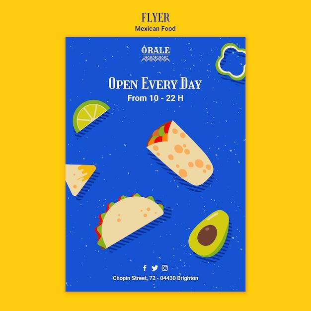 Modèle De Flyer Cuisine Mexicaine Psd gratuit
