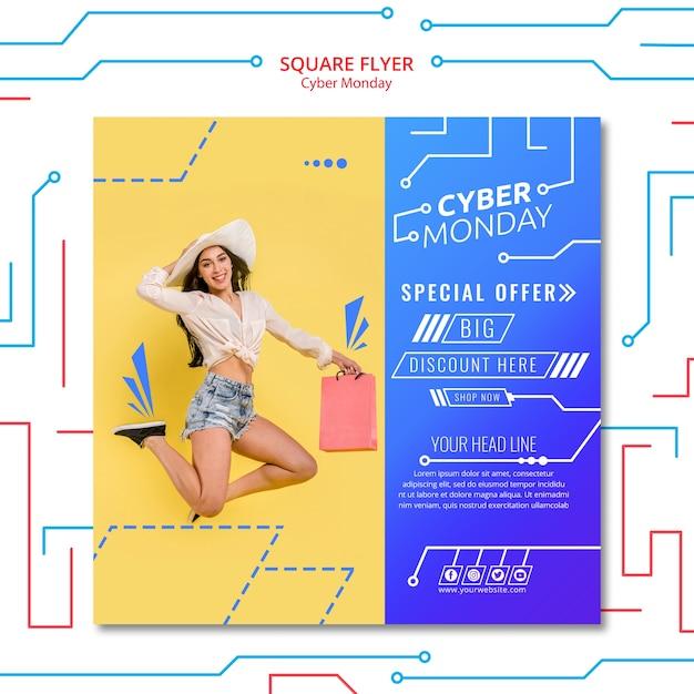 Modèle de flyer cyber lundi Psd gratuit