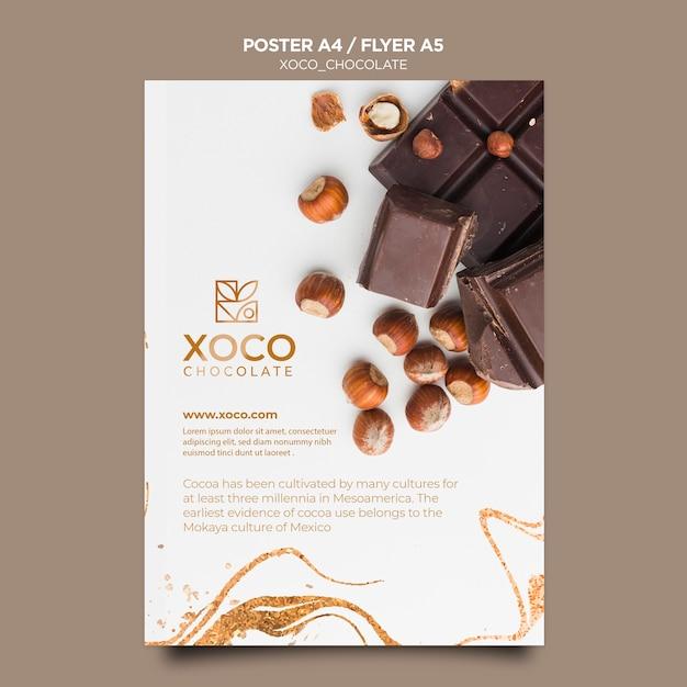 Modèle De Flyer Délicieux Chocolat Psd gratuit