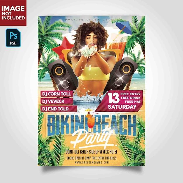 Modèle De Flyer Dj Musique Party PSD Premium