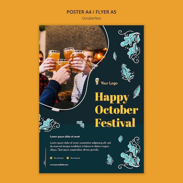 Modèle De Flyer Du Festival Oktoberfest Psd gratuit