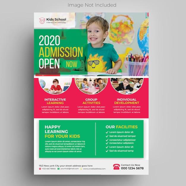 Modèle De Flyer De éducation Des Enfants PSD Premium