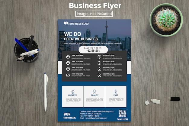 Modèle de flyer d'entreprise moderne PSD Premium