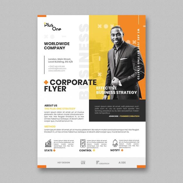 Modèle de flyer d'entreprise Psd gratuit