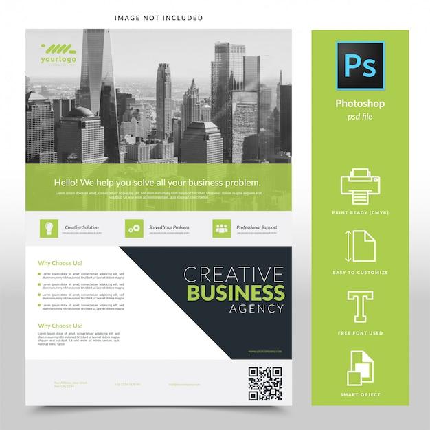 Modèle de flyer d'entreprise PSD Premium
