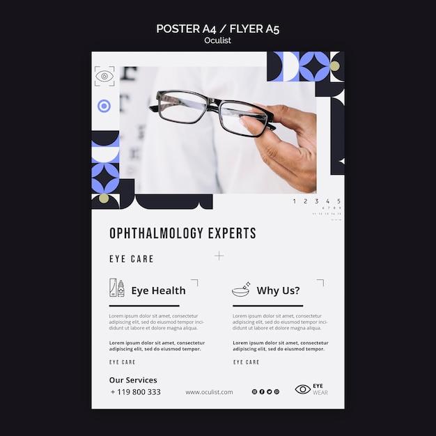 Modèle De Flyer D'experts En Ophtalmologie Psd gratuit